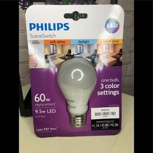 BN Phillips Scene Switch 3 Way LED Bulb